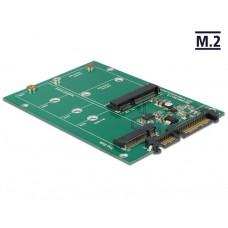 Delock Konverter SATA 22 Pin > 1 x M.2 + 1 x mSATA
