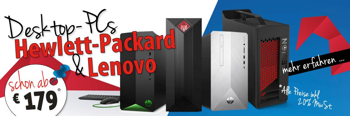 HP, Lenovo DesktopPC-s