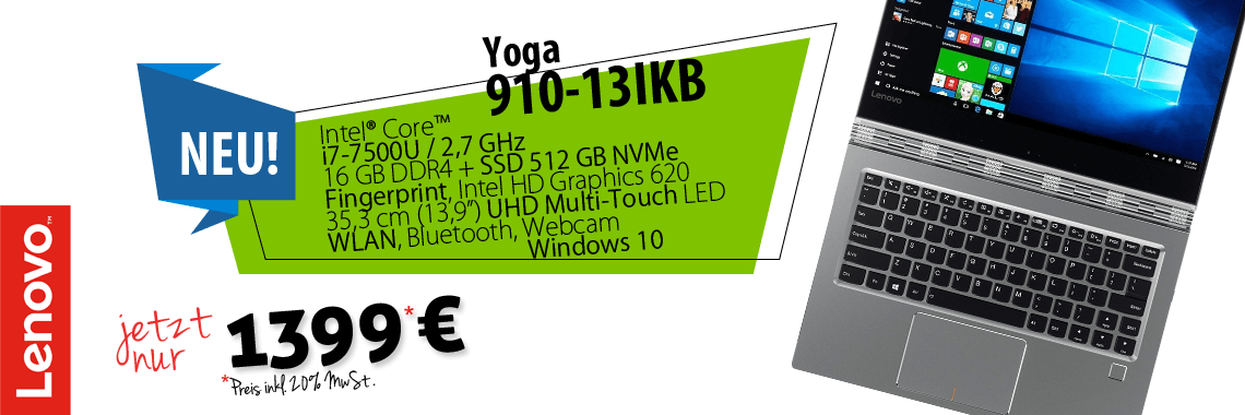 Lenovo Yoga 910 2in1 Convertible