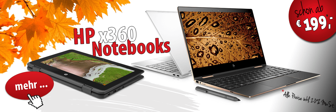 x360 Notebooks Pavilion, Spectre, Chromebook