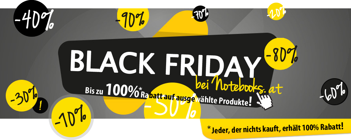 Black Friday bei Notebooks.at